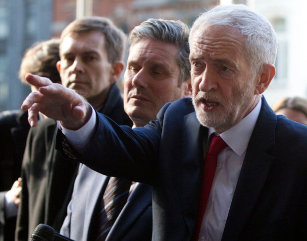 Concerned: British Labour Party leader Jeremy Corbyn, right, says Begum should face questioning. Photo: AP