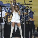 Mexico's Paulina Rubio performs during the Venezuela Aid Live concert (Fernando Vergara/AP)