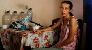 Yaneidi Guzman at home in Caracas. Photo: Reuters