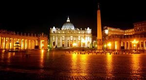 St Peter's Square in Rome looking towards the Vatican (Phil Noble/PA)