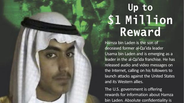 A wanted poster released by the US Department of State Rewards for Justice programme (Rewards for Justice/AP)