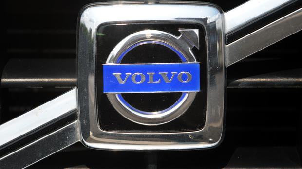 The makers badge on a Volvo vehicle.