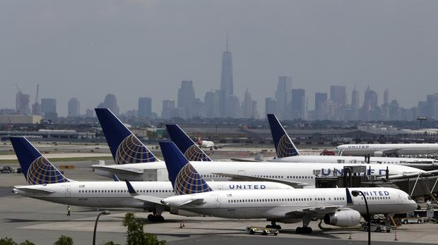 United Airlines jets at Newark Liberty International Airport (AP)
