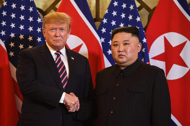 Kim Jong Nam had been living abroad but could have been seen as a threat to North Korean leader Kim Jong Un, pictured with President Donald Trump at a recent meeting in Vietnam