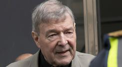 Cardinal George Pell has been sentenced to six years in prison (AP Photo/Andy Brownbill, File)