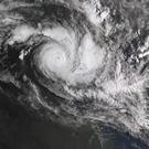 Cyclone Trevor moves over the Northern Territory (Bureau of Meteorology/AAP Image/AP)