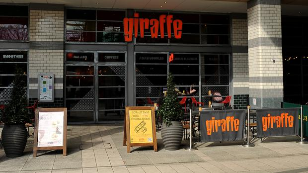 Boparan Restaurant Group acquired Giraffe from Tesco in 2016, and later combined it with Ed's Easy Diner, which it had bought in a pre-pack administration that same year (Andrew Matthews/PA)