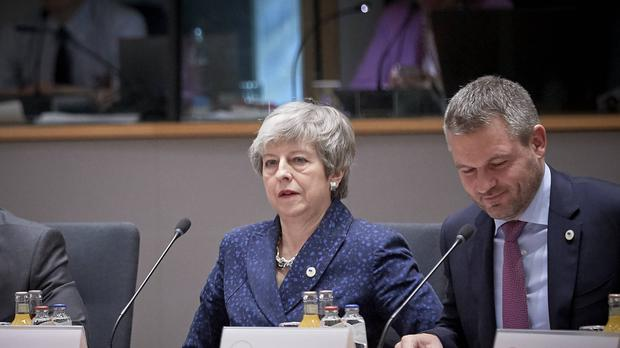 Theresa May has blamed others for the state of Brexit (Mario Salerno/EU/PA)