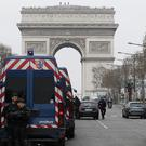 Police guard at Champs-Elysees avenue in Paris (Michel Euler/AP)