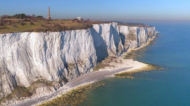 A view of the White Cliffs of Dover in, Dover, Kent (Gareth Fuller/PA)