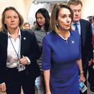 Setback: Speaker of the House Nancy Pelosi walks from a Democratic Caucus meeting on Capitol Hill in Washington. Photo: Reuters