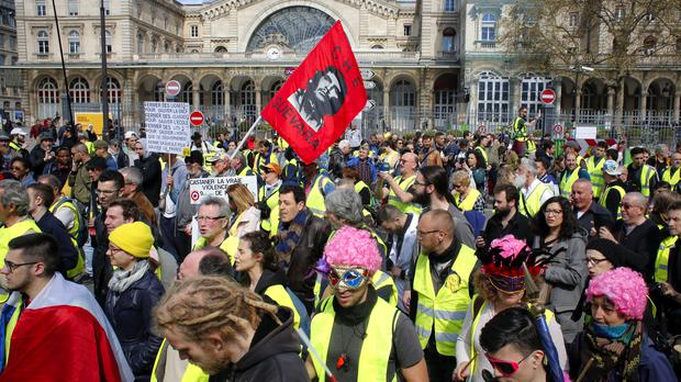 French yellow vest protesters (AP Photo/Thibault Camus)
