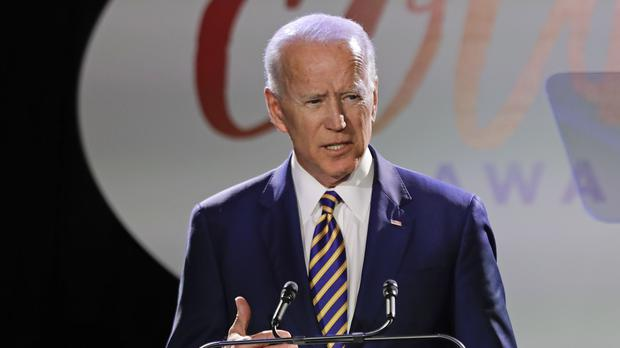 Former US vice president Joe Biden is deciding whether to join the 2020 presidential race (Frank Franklin II/AP)