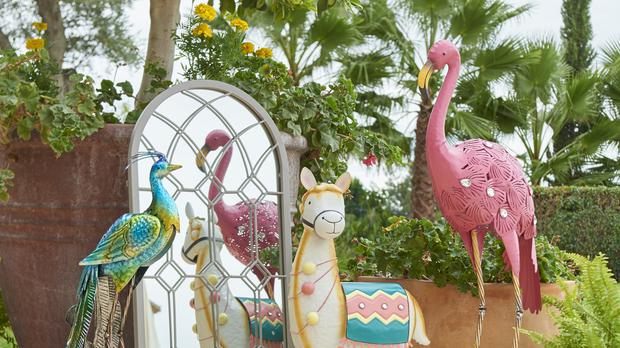 Lawn ornaments from Dunelm's summer range (Dunelm/PA)