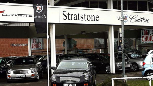Stratstone Cadillac dealership, owned by Pendragon, near Newcastle. Pendragon tabled a hostile offer worth £258.8 million, Thursday March 9 2006, for rival car dealership Lookers just days after completing its acquisition of Reg Vardy. See PA story CITY Pendragon. PRESS ASSOCIATION photo. Picture credit should read: Peter Byrne/PA