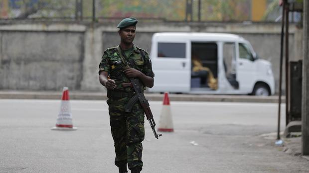 A Sri Lankan security officer (AP Photo/Eranga Jayawardena)