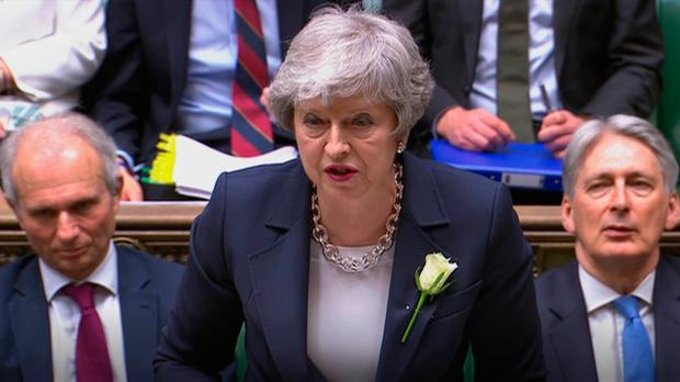 Grilling: Theresa May faced tough questions from MPs in her own party during Prime Minister's Questions yesterday. Photo: PA