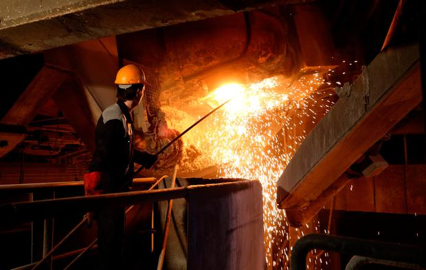 Sanctions: An employee at the Iran Alloy Steel Company plant in Yazd - Donald Trump has placed sanctions on Iranian steel. Photo: AFP/Getty Images
