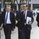 United States Trade Representative Robert Lighthizer, left, and Treasury Secretary Steven Mnuchin (Jon Elswick/AP)
