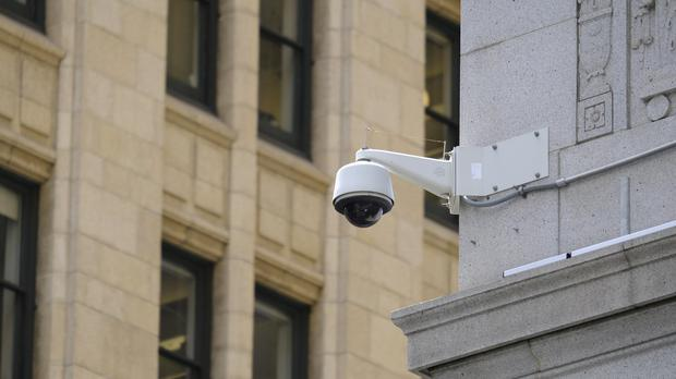 A security camera in the Financial District of San Francisco (AP)
