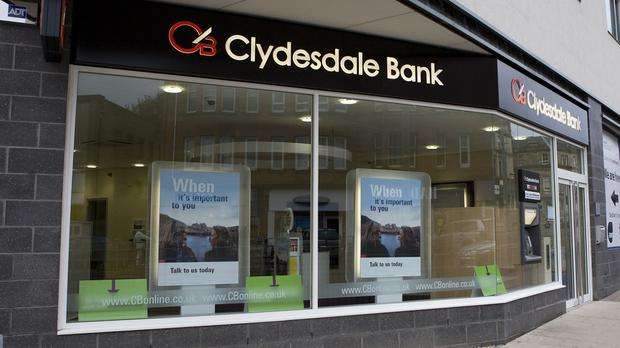 A Clydesdale Bank branch (Clydesdale Bank/PA)