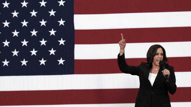 Democratic presidential candidate Senator Kamala Harris (Richard Vogel/AP)
