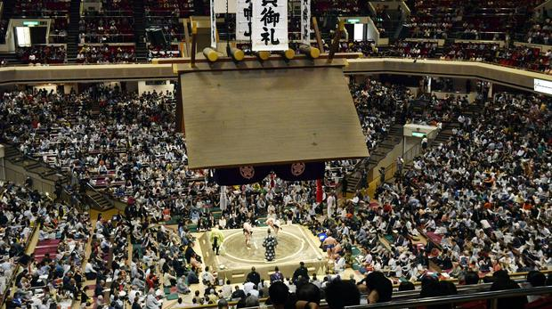 Mr Trump is planning to check out a sumo championship (Yoshitaka Sugawara/Kyodo News/ AP)