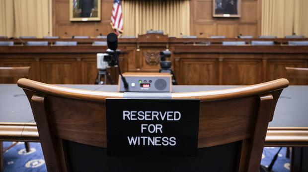 The witness chair in the House Judiciary Committee was left empty (AP Photo/J. Scott Applewhite)