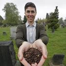 Katrina Spade, founder of Recompose, a company that hopes to use composting as an alternative to burying or cremating human remains (Elaine Thompson/AP)