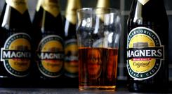 Sales of Magners in Spain and France were hit during C&C's last financial year. Photo: Peter Byrne/PA