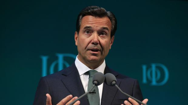 Antonio Horta-Osorio, Group Chief Executive Lloyds Banking Group, addresses the Institute of Directors convention at the Royal Albert Hall, London.