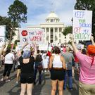 Protesters for women's rights (AP Photo/Butch Dill)