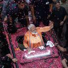Tear it down to build it up: Narendra Modi in Varanassi. Photo: Reuters