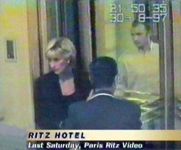 FATEFUL NIGHT: Diana at the Ritz Hotel in Paris, hours before the fatal crash of August 31, 1997