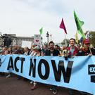 Climate change protests in London (Kirsty O'Connor/PA)