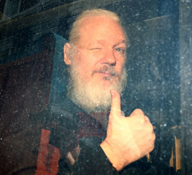 Julian Assange is in a British prison for skipping bail