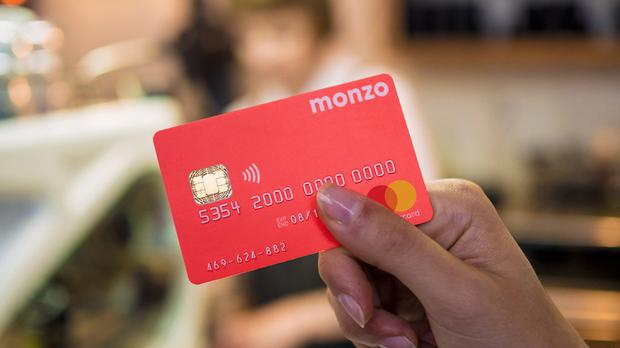 Undated handout photo issued by Monzo of one of their cards. Britain's tech sector received record investment last year, growing its number of tech unicorn firms, including the likes of Monzo and Revolut. (Monzo/PA)