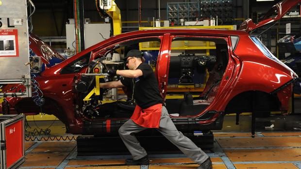 Transport manufacturing slumped as several plants closed (Anna Gowthorpe/PA)