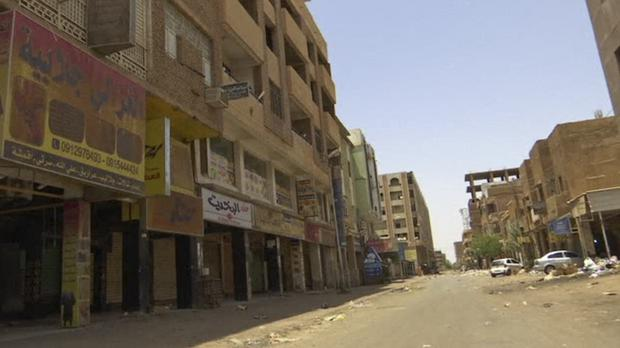 Shops are closed in Khartoum during a general strike (AP)