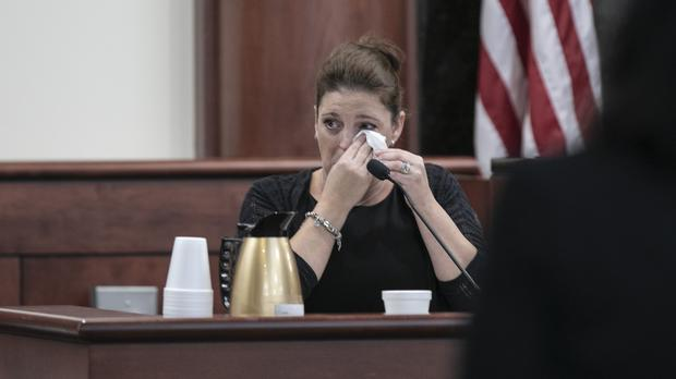 Amber Kyzer, mother of five children who were killed by their father (Tracy Glantz/The State via AP, Pool)