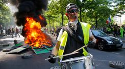 """The Government has noted that diesel prices encouraged the huge """"yellow vest"""" demonstrations in France. Photo: Michel Euler/AP"""