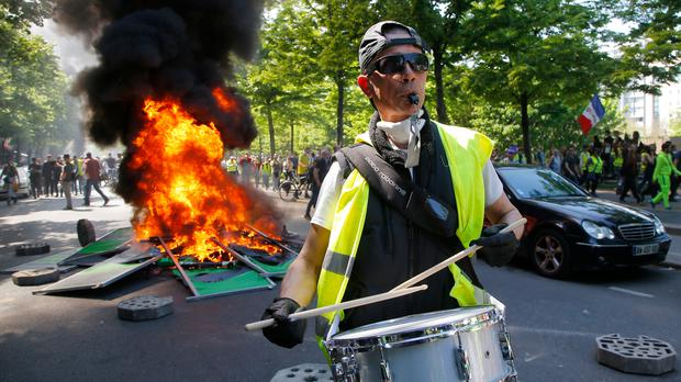 "The Government has noted that diesel prices encouraged the huge ""yellow vest"" demonstrations in France. Photo: Michel Euler/AP"