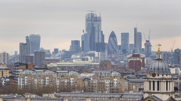 General view of the City of London from Greenwich Park, south London. (PA)