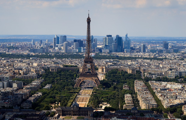 'Paris is criss-crossed by dozens of hop-on, hop-off double-decker buses that shuttle tourists between attractions, as well as tourist coaches bringing in budget travellers from all over Europe.' Photo: AP