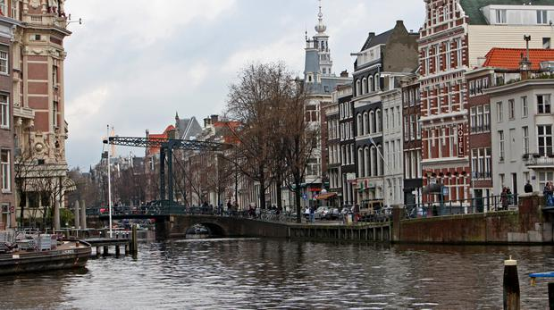 A view in the centre of Amsterdam (Chris Radburn/PA)