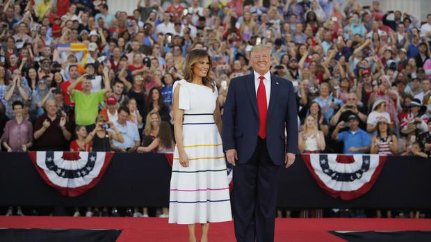 President Donald Trump and first lady Melania Trump (Carolyn Kaster/AP)