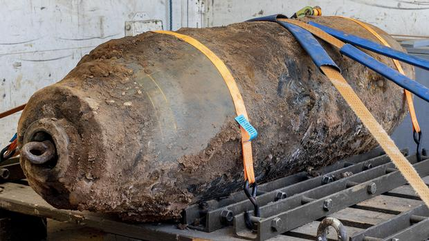A defused Second World War bomb (Michael Probst/AP)