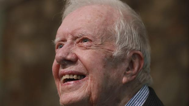 Former US President Jimmy Carter (Curtis Compton/Atlanta Journal-Constitution/AP)