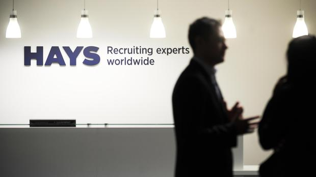 Hays saw shares slip after UK hiring declined for the past three months (PA)