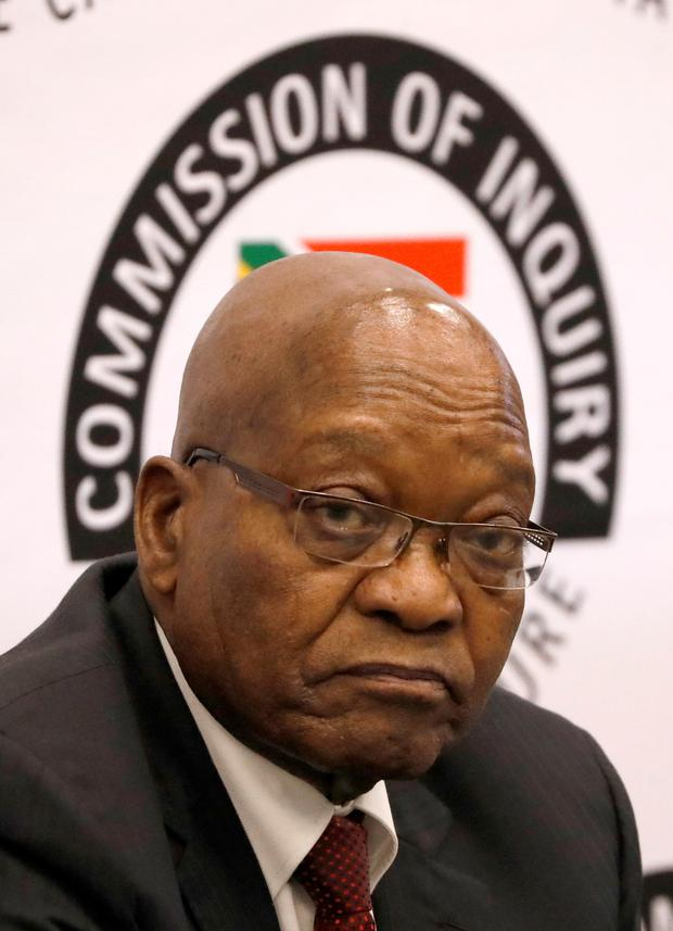 Former South African President Jacob Zuma . REUTERS/Mike Hutchings